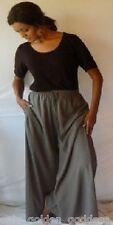gray palazzo pants split skirt gaucho ONE SIZE-M L XL 1X 2X 3X 4X 5X 6X PLUS