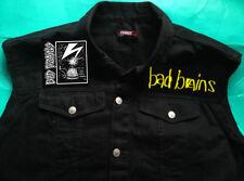 "Bad cervelli Banditi a Washington hardcore punk Black Denim Cut-Off Giacca M-Xxl Marinaio"""