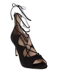 KLUB NICO Matilda Black Blush open-toe sandal tieup slim stiletto heel Bootie