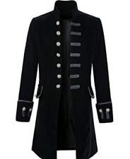New Men's Punk Steampunk Military Coat Jacket Long Sleeve Gothic Uniform Coat