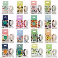 10m Roll Cartoon Washi Tape Sticker Decor Paper Masking Self Adhesive Craft  #W