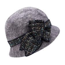 60% Wool Womens polyester Dress Church Cloche Hat Bucket Winter Hat A374