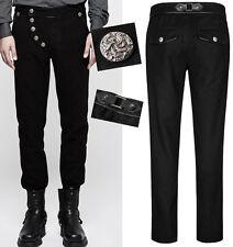 Pantalon gothique steampunk dandy bouton gravé baroque hiver mode Punkrave homme