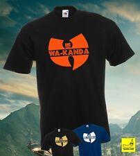 Black Panther Wakanda T-Shirt Wu Tang Clan Superhero Marvel Avengers Vibranium