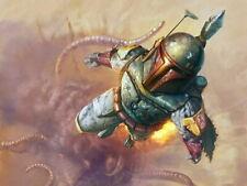 Boba Fett Jetpack Flight Sarlacc Star Wars HUGE GIANT PRINT POSTER