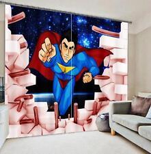 3D Superman 07 Blockout Photo Curtain Printing Curtains Drapes Fabric Window