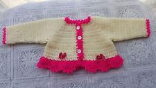 Hand crochet baby Cardigan/Bolero newborn to 3months