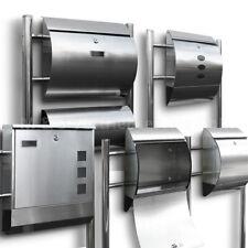 Edelstahl Standbriefkasten Briefkasten Doppelstandbriefkasten mit Zeitungsfach