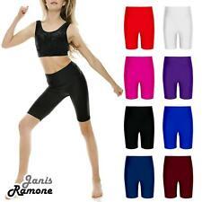 Girls Nylon Lycra Stretchy Dance Sports Cycling Shorts Game School Short Pants