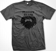SALE PlayOff Beard Grow A Beard Until After PlayOffs Hockey Charcoal T-shirt