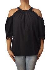 Ottod'ame - Camicie-Camicia - Donna - Nero - 4950115G181136