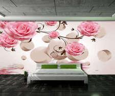 Novel Romantic Rose 3D Full Wall Mural Photo Wallpaper Printing Home Kids Decor