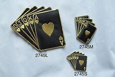 #2745 Black Royal Flush Poker Card Gambling,Casino Embroidery Applique Patch