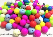 lot de 10 perles en silicone enfant attache tétine couleur  aux choix NEUF