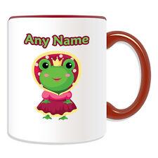 Regalo Personalizado Frog Princess Taza dinero Caja De Copa Cuento De Hadas nombre mensaje Prince