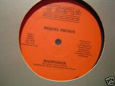 """MIQUEL BROWN MANPOWER HE'S A SAINT12"""" 1984 DJ COPY"""
