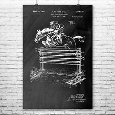 Show Horse Jump Training Poster Print Horse Art Equestrian Gift Horse Decor