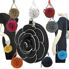 Ladies Womens Shoulderbag Wrist Purse Clutch Handbag Flower Rose Designer A8
