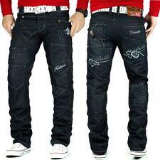 Kosmo Lupo Herren Jeans Mens Pants Freizeit Hose Clubwear Designer Dope Schwarz