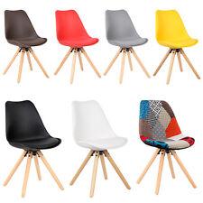 Esszimmerstühle 2er Set Küchenstuhl Stuhl Holz Kunstleder Kunststoff #620