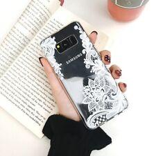 Pour Coque Samsung Galaxy S8 S9 S10 Plus Floral Transaprent silicone Couverture