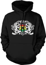 Republic of Ghana Heraldic Lions Flag Ghanaian Pride Hoodie Pullover