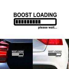 Car Sticker BOOST LOADING Please Wait... Auto Decal Vinyl for JDM Turbo Diesel