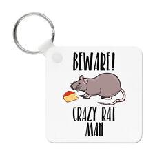 ATTENTION Crazy rat homme porte clé Porte-clés - DRÔLE