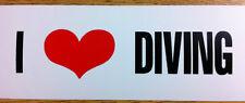 "Scuba Diving Bumper Sticker Decal ""I Love Diving"" DS85"