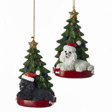 Poodle w/Tree Ornament