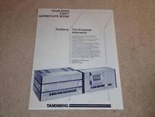 Tandberg Ad,1982, 3003 Amp,3004 Tape,3001 Pre,3002 Tuner