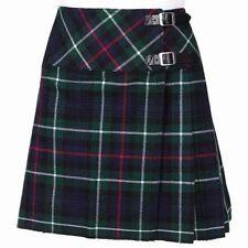 "Ladies Knee Length Mackenzie Kilt Skirt 20"" Length Tartan Pleated"