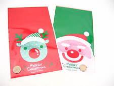 10pcs Xmas packing bag Xmas gift wrapping bag Xmas Baking bakery bags supplies