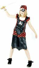 Piraten Kostüm für Mädchen Piratinnenkostüm Piratin Mädchenkostüm Gr. 98 - 152