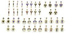 Ethnic Vintage Earrings Jewellery Gift Gold Tone Earrings Drop Dangle Antique