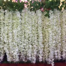 10pc Home DIY Decor Artificial Silk Wisteria Hanging Flower Garland Vine Wedding