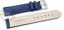hebilla Uhrenarmbander Eptide azul Con costura blanca 18mm20mm22mm24mm26mm28mm