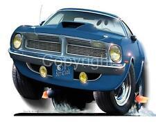 1970 Plymouth Barracuda Muscle Car T-Shirt #6786 CUDA automotive art