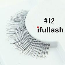 #12  6 or 12 pairs of ifullash 100% human hair Eyelashes- BLACK