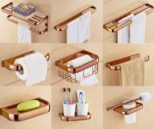 Rose Gold Copper Wall Mount Bathroom Hardware Set Bath Accessory AJ020