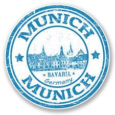 2 x Munich Germany Bavaria Vinyl Sticker Decal Luggage Travel Tag Gift #4584