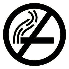 NO FUMAR Logo - 3m Scotchlite PEGATINA REFLECTANTE (ADHESIVO 680 COCHE Escúter