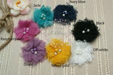 3 LARGE, LACE PETAL fabric flower 8cm, DIY Embellishment craft sewing craft