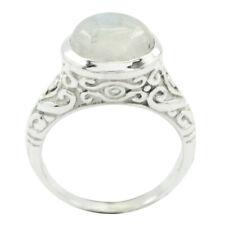 Regenbogen Mondstein Ring - 925 Sterling Silber Ring - weißer Ring - handgeferDE