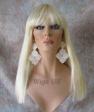 "Cleo 601 U Choose Color Long Wig Cleopatra Straight Full Bangs 22"" Wigs US"