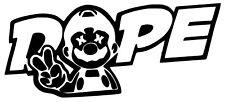 JDM Dope Mario Vinyl Decal Sticker racing honda peace funny drift car WRX window