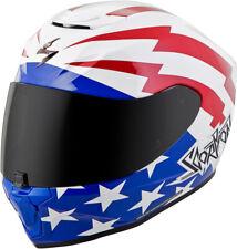 Scorpion Adult Red/White/Blue EXO-R420 Tracker Full Face Motorcycle Helmet Snell