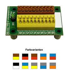 Stromverteiler Verteiler Klemmleiste 2 x10polig mit Kontroll LED - WAGO Klemmen