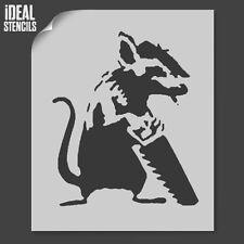 Banksy Rata Stencil Plantillas Reutilizables De Pintura Arte Decoración Del Hogar-Ideal Stencils Ltd
