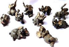 ELEPHANTS MINIATURE ORNAMENT STATUE COLLECTABLE ANIMALS 10 DESIGNS